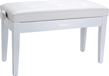 Roland RPB-D300WH-EU PIANO BENCH, DUET SIZE, SATIN WHITE, VINYL SEAT (EU MODEL)