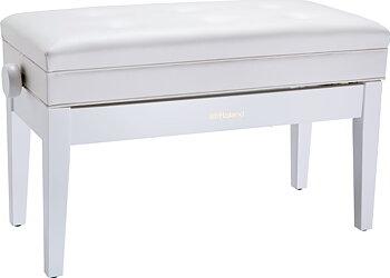 Roland RPB-D400WH-EU PIANO BENCH, DUET SIZE, SATIN WHITE, VINYL SEAT (EU MODEL)