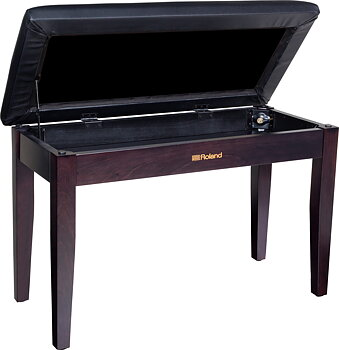 Roland RPB-D100RW DUET PIANO BENCH, ROSEWOOD, WITH STORAGE COMPARTMENT