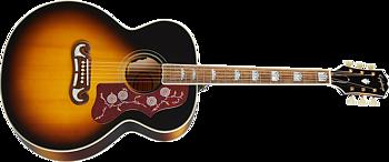 Epiphone J-200 All Solid Wood Aged Vintage Sunburst Gloss Stålsträngad Gitarr
