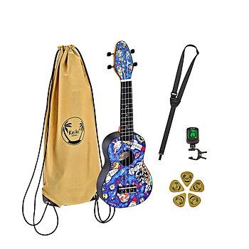 ORTEGA K2-SP Keiki Soprano ukulele-pack, Spaceman