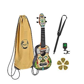 ORTEGA K2-TM Keiki Soprano ukulele-pack, Totem