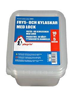 Pingvin Frys- och Kylask med lock 10dl