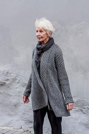 Koftkavaj i Diagonal grå/svart