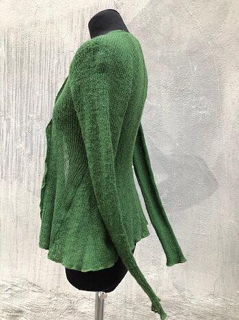 Kofta i lättfiltad ull grön