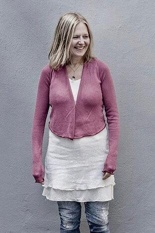 Kort kofta rosa