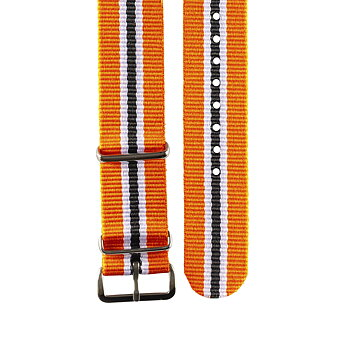 "Nato strap– ""Orange, white & black"""