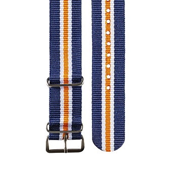 "Nato band - ""Dark blue, white & orange"""