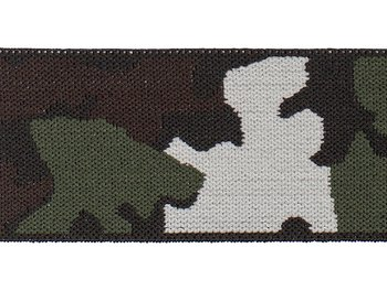 Resår 45mm grön kamouflage