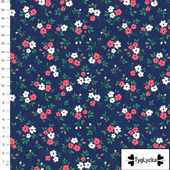 Small flowers navy