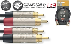 1M/3FT TWIN CBL RCAm-RCAm DLX