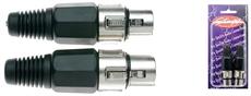 2 Female Xlr Pro Plug-Ni Plt