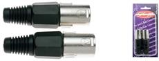 2 Xlr Male Pro Plug-Ni Plted