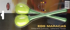2Pc Egg Maracas L/1 1/4Oz/Grn
