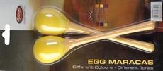 2Pc Egg Maracas L/5/8Oz/Yellow