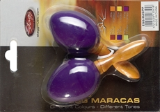 2Pc Egg Maracas S/ 7/8Oz/Purp.