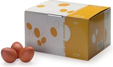 50Pcs Egg Shaker,Orange,Mat