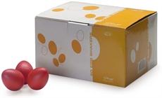 50Pcs Egg Shaker,Red,Mat