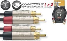 60CM/2FT TWIN CBL RCAm-RCAm DL