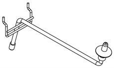 CYMBAL DISPLAY ARM 25cm