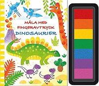 Måla med fingeravtryck Dinosaurier