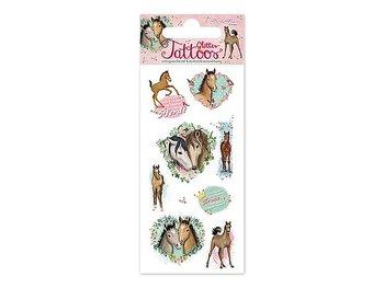 Glitter tatueringar hästar
