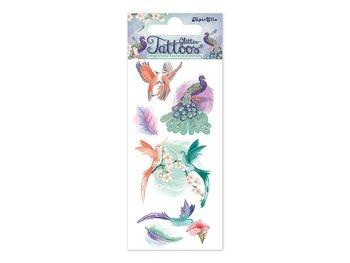 Glitter tatueringar fåglar