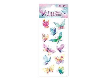 Glitter tatueringar fjärilar