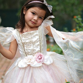 Golden rose fairy dress 5-6år