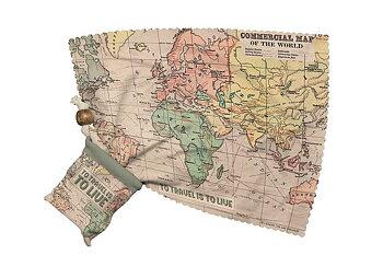 Putsduk, Världskarta