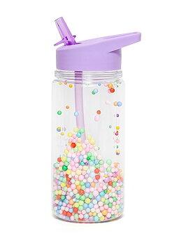 Vattenflaska med godispops, Lila