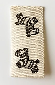 Printed cotton label Zebra