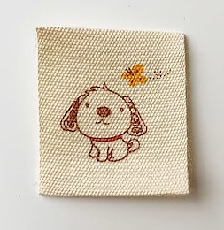 Printed cotton label Dog