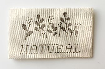 Printed cotton label Natural