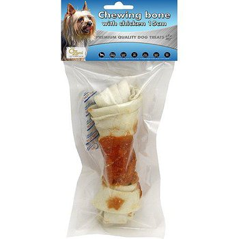 CHEWING BONE WITH CHICKEN 15CM 100GR