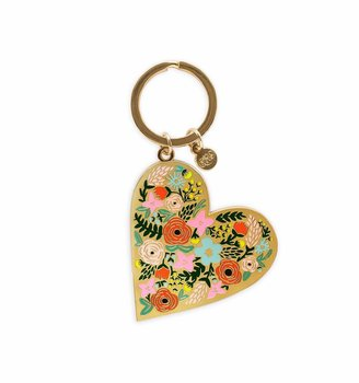 Key Chain Floral Heart
