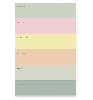 Color Block Memo Notepad