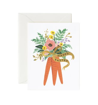 Carrot Bouquet kort med kuvert