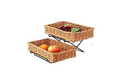 baskets and basket rack