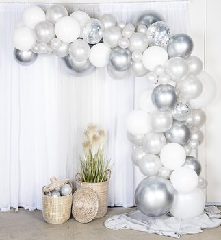 Kit Ballongbåge - Silver/Chrome