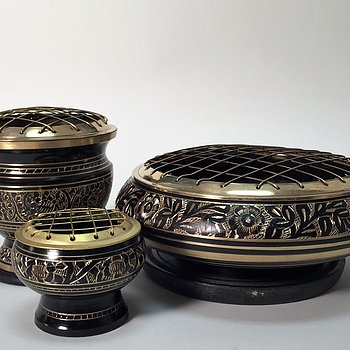 Ornamented Censers in Brass