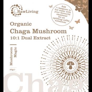 Chaga (Inonotus obliquus) 10:1 Dual Extract Powder - Organic 50g