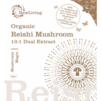 Reishi (Ganoderma lucidum) 13:1 Dubbelextraherat pulver - EKO 50g