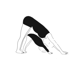 Illustration: Downward facing dog