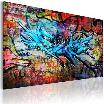 Tavla - Canvastavla - Anonym graffiti