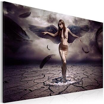 Tavla - Canvastavla - Svart ängel