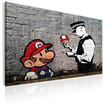 Tavla - Canvastavla - Mario och polismannen - Banksy