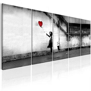 Tavla - Canvastavla - Flyende ballong - Banksy