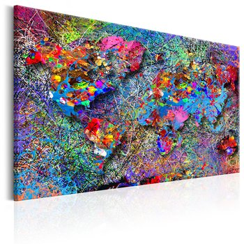 Tavla - Canvastavla - Abstrakt värld - Jackson Pollock inspirerat