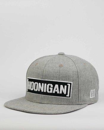 """Hoonigan """"Censor bar"""" grå snapback keps"""